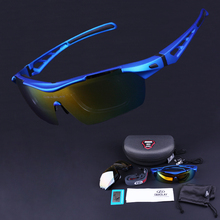 Hot! Brand Designer Polarized Cycling Sun Glasses Outdoor Sports Bicycle Glasses Bike Sunglasses TR90 Goggles Eyewear 5 Lens