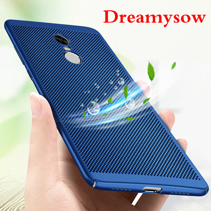 Phone Coque Case Heat Dissipation Cover Case For Xiaomi Redmi 5 5Plus 4X 4A 3s Note 4 Pro Global Note 5A Prime Y1 Lite Mi A1 5X