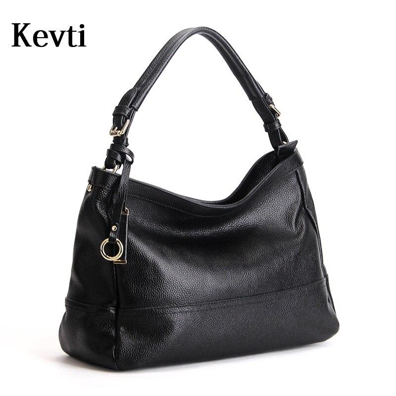 Genuine Leather Women Handbag high quality Cowhide Shoulder bags Casual Female large tote bag Teenager girls Ladies Messenger