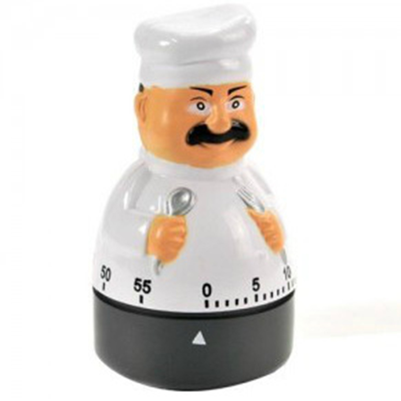 1PC Kitchen Cute Cartoon Mini timer 60 Minutes Cooking Timer Mechanical energy Saving Cronometro Cooking Tools KC1518
