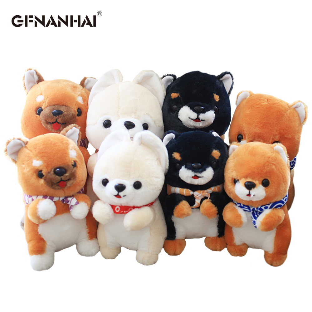 1pc 30/40cm kawaii standing shiba Inu dog plush toy lovely shiba animal dog pillow dolls stuffed soft toys for children gift
