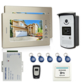 JERUAN Brand New 7 inch LCD Screen Video DoorPhone Intercom System 2 Monitor + 700TVL RFID Access Camera + Remote Control