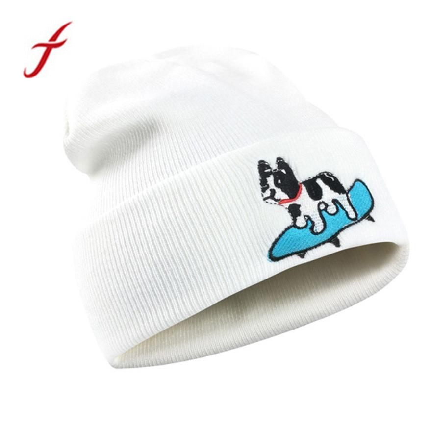 Mujer Casepillows AdultS Shark Logo Elastic Knitted Beanie Cap Warm