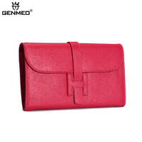 New Arrival Famous Design Sexy Cow Leather Handbag 2017 Brand Genuine Leather Women Wallets Ladies