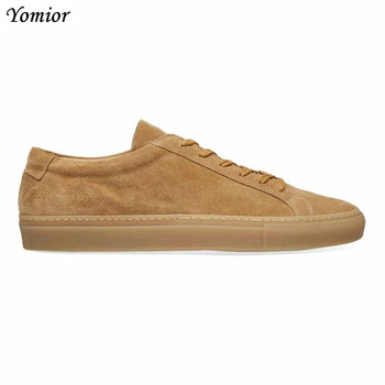 Yomior Handmade Quality Cow Leather Men Casual Shoes Flats Breathable Loafers Vintage British Big Size Luxury Dress Sneakers - discount item  33% OFF Men's Shoes