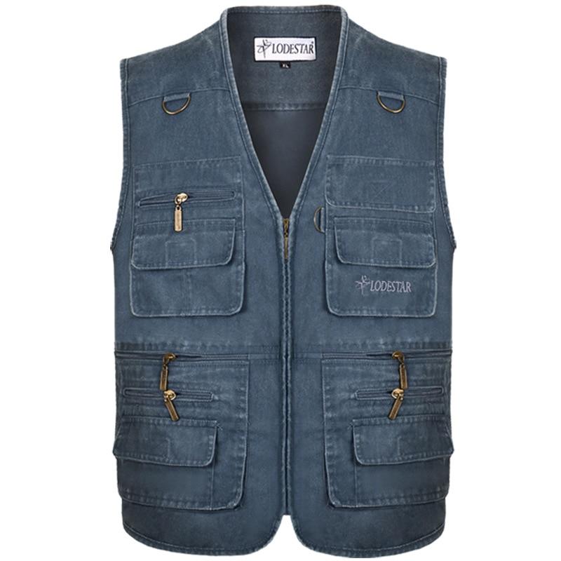 Denim Vest Men's Jacket Sleeveless Cotton Casual Waistcoat Men's Jean CoatSlim Fit Male Jacket Cowboy Pockets