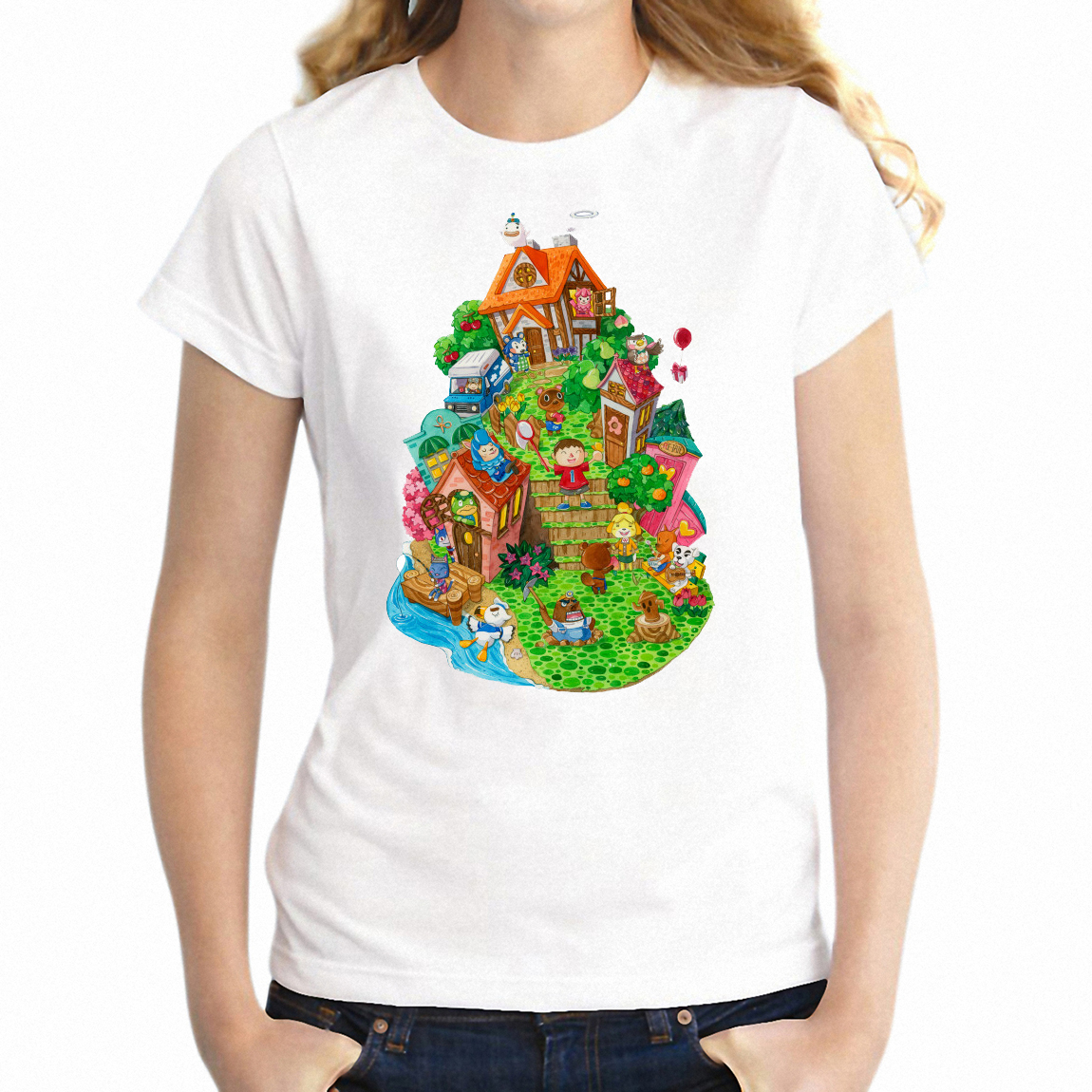9da37fd0 Cheap T-Shirts, Buy Directly from China Suppliers:Women's T Shirt Animal  Crossing