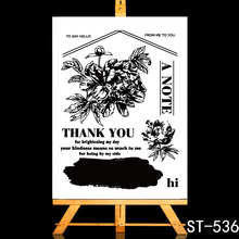 ZhuoAng Thank you friend Transparent and Clear Stamp DIY Scrapbooking Album Card Making DIY Decoration Making zhuoang plant greeting card transparent and clear stamp diy scrapbooking album card making diy decoration making