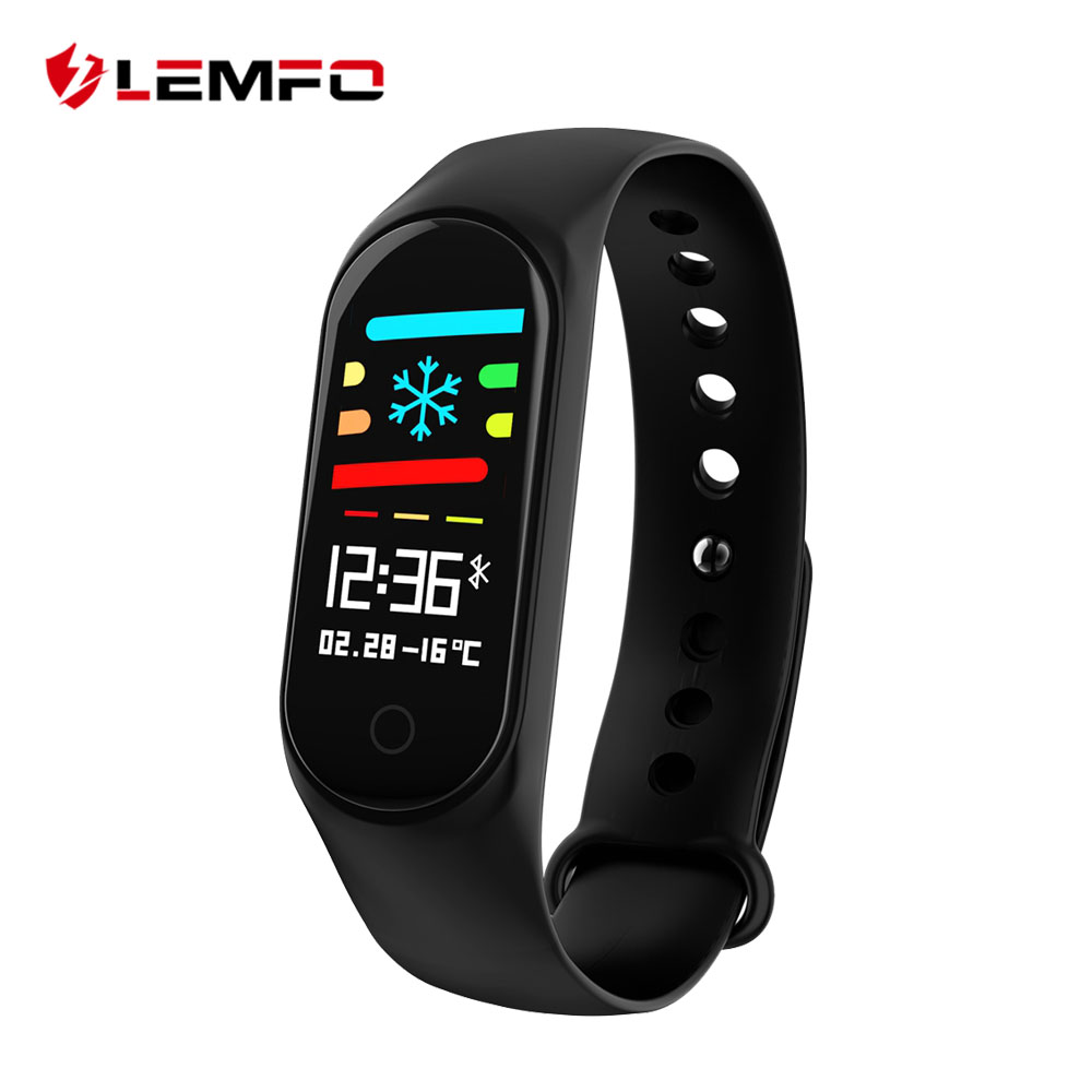 LEMFO 0.96 Inch Color Screen Smart Fitness Bracelet IP67 Waterproof Blood Pressure Oxygen Band 3 For Xiaomi Mi 20 Days Standby