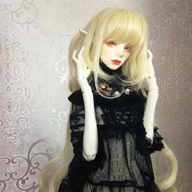 Mode cheveux courts/longs cheveux bouclés perruque postiche pour 1/3 1/4 1/6 BJD SD LUTS poupées fabrication et réparation offre spéciale accessoires de poupée