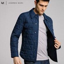 ANDREW MARC 2017 Autumn & Winter Man Cotton Parka Coat Slim Warm-keeping Fashion Parkas Men TM6AC140