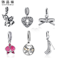 Original Charms Fit Pandora Charm Bracelet Necklace Pendant 925 Sterling Silver Bow Love Heart European Charms
