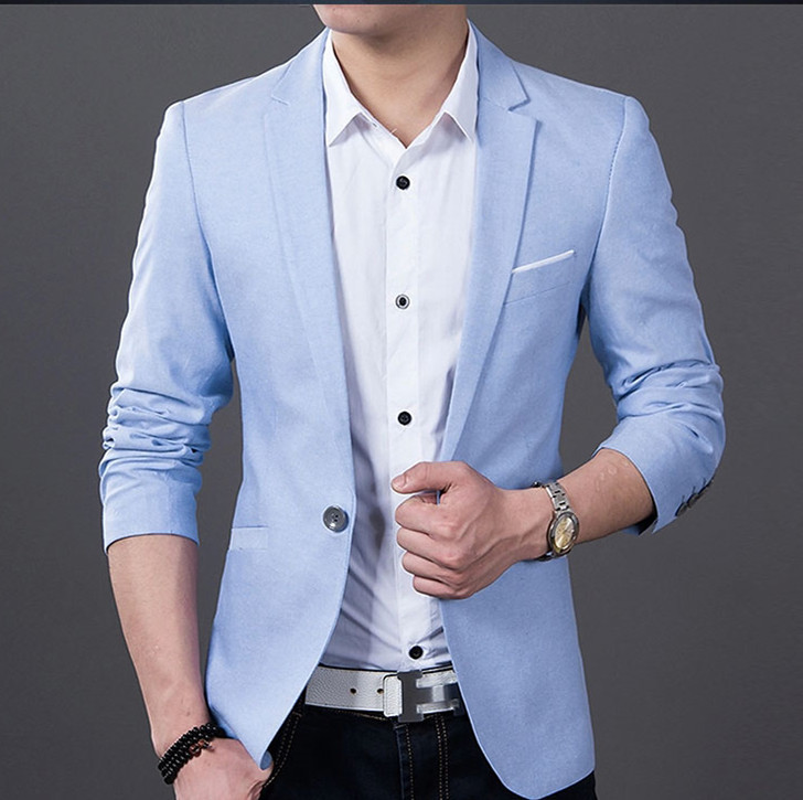 Popular Sky Blue Blazer-Buy Cheap Sky Blue Blazer lots from China ...