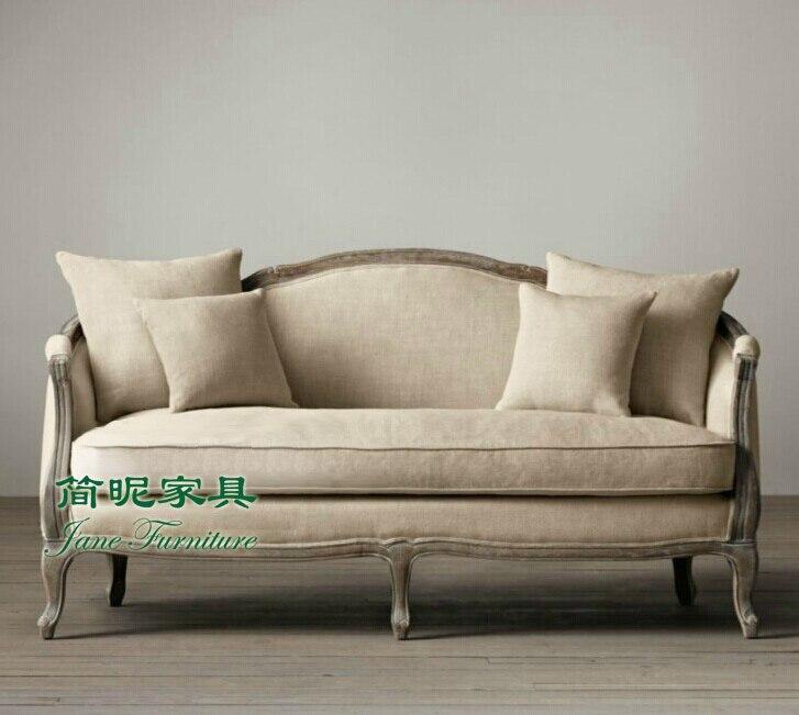Brauch stoff sofa American retro Holz haben die alten französisch ...