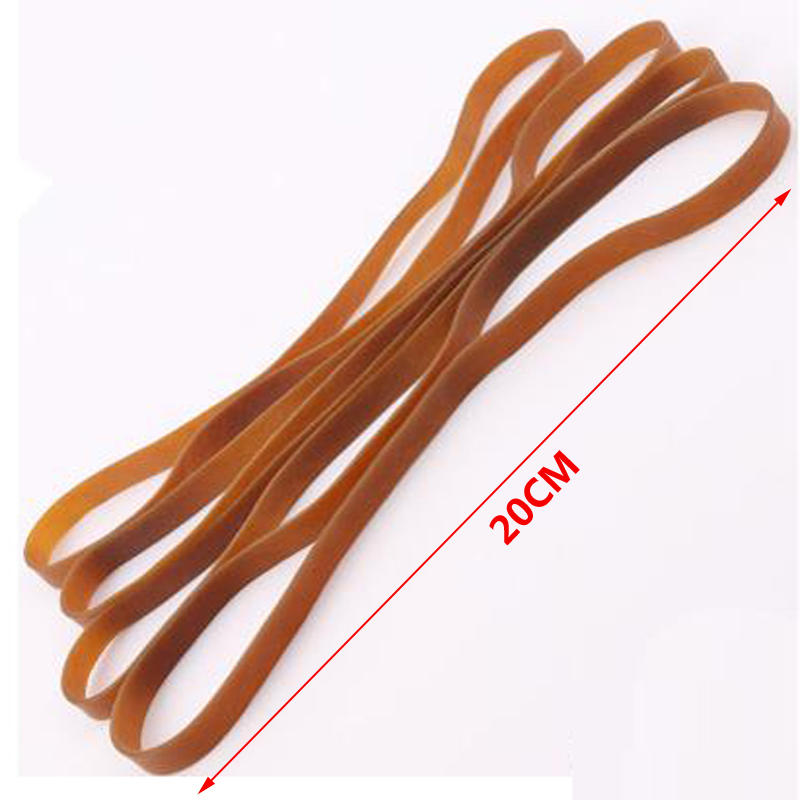 Stationery Holder Humor 20 Pieces Wide 10mm Brown Rubber Strong Elastic Band Office School Supply Stationery Accessories High Quality 200mm Rubber Bands Elegant In Smell Desk Accessories & Organizer