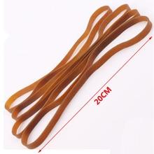 Elástico de borracha marrom de 10mm, elástico forte de borracha, fonte de escritório, escola, acessórios de papelaria de alta qualidade, 200mm, 20 peças bandas de bandas