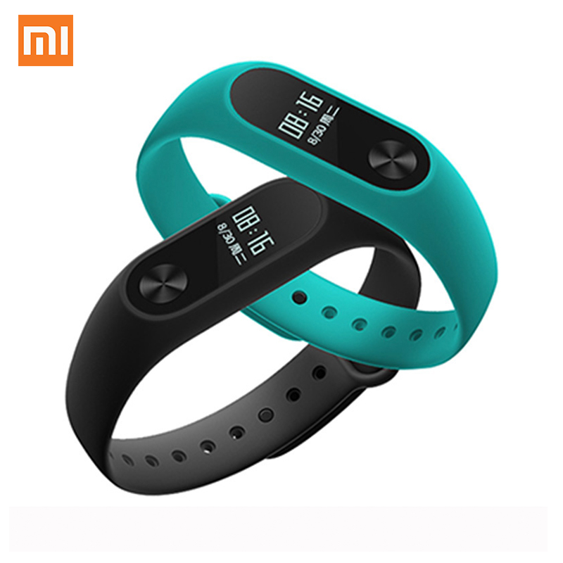Original Xiaomi Mi Band 2 Wristband Bracelet Smart Heart Rate Monitor Fitness Tracker Miband Band2 Touchpad OLED Strap In Stock for yamaha mt 03 2015 2016 mt 25 2015 2016 mobile phone navigation bracket