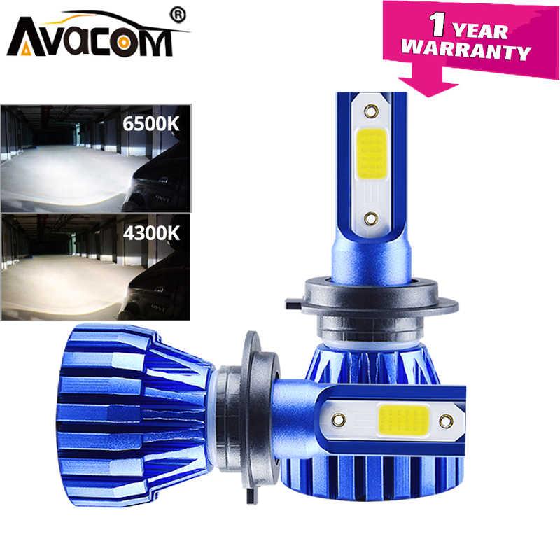 LED H11 H3 H7 Mini Car Headlight Lamps 12V 6500K 4300K 8000Lm COB H8 9005/HB3 9006/HB4 9012/Hir2 Auto Ice Lamp LED H4 Ampoule
