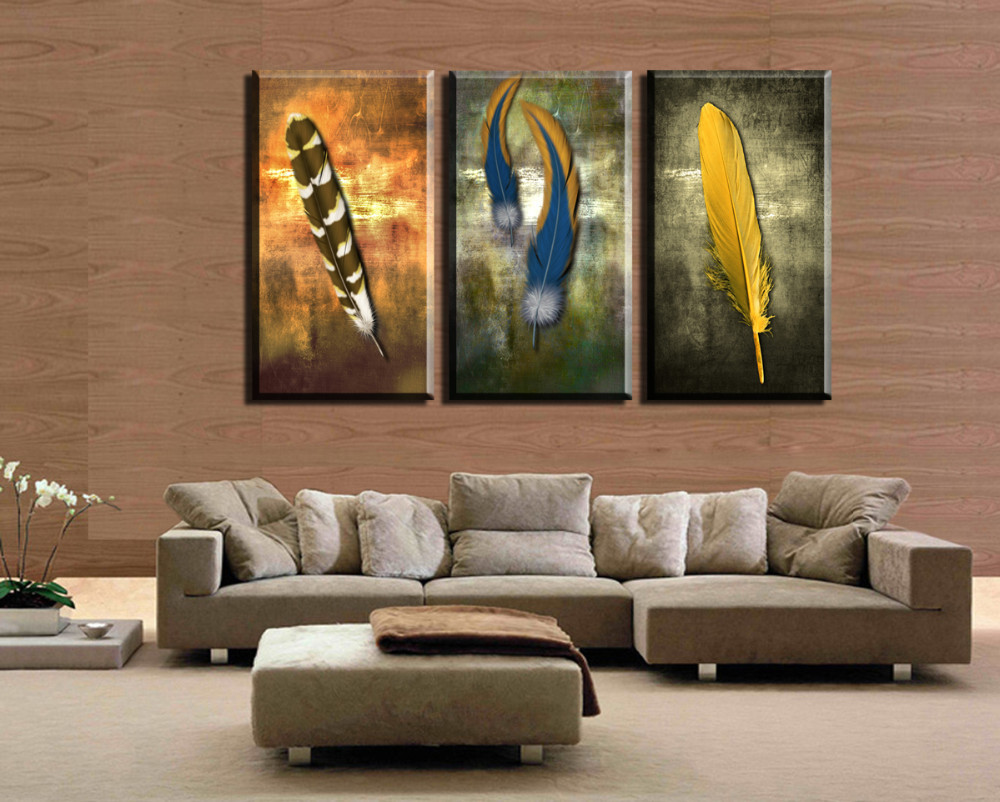 Modern Painting For Living Room Online Get Cheap Feather Painting Aliexpresscom Alibaba Group