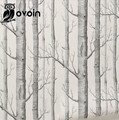 "Birch Tree Black White 3D Embossed Woods Wallpaper for Wall, 33' x 20.5""  Roll Paper"