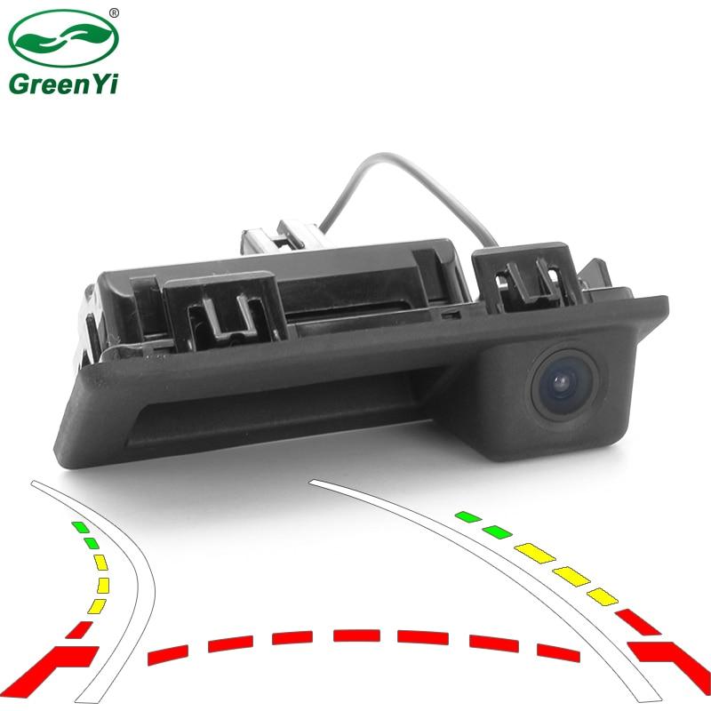 GreenYi 動的トラックトランクハンドル Dwitch リアビューカメラアウディ A4L 2017 フォルクスワーゲン VW Teramont C TREK トゥーラン L ティグアン L -