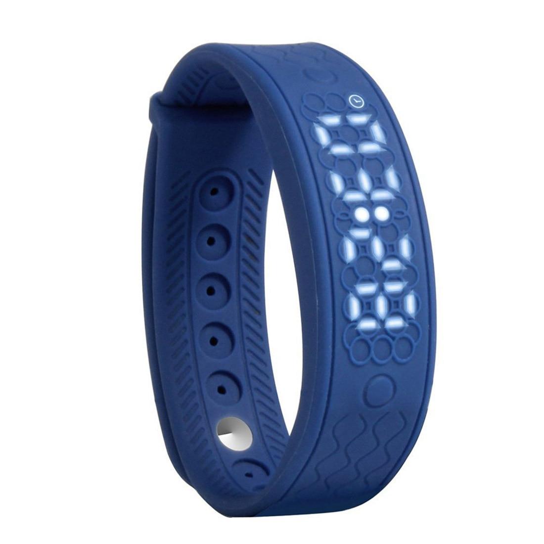 fitness bracelet H5S portable intelligent activity Control Clock Heart Rate Monitor Smart Bracelet distance calculator Blue