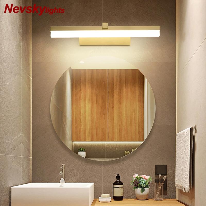 Us 43 79 30 Off Modern Golden Wall Lamps Led Lamp Copper White Mirror Light Living Room Sconce Deco Lighting Br Lights Foyer In