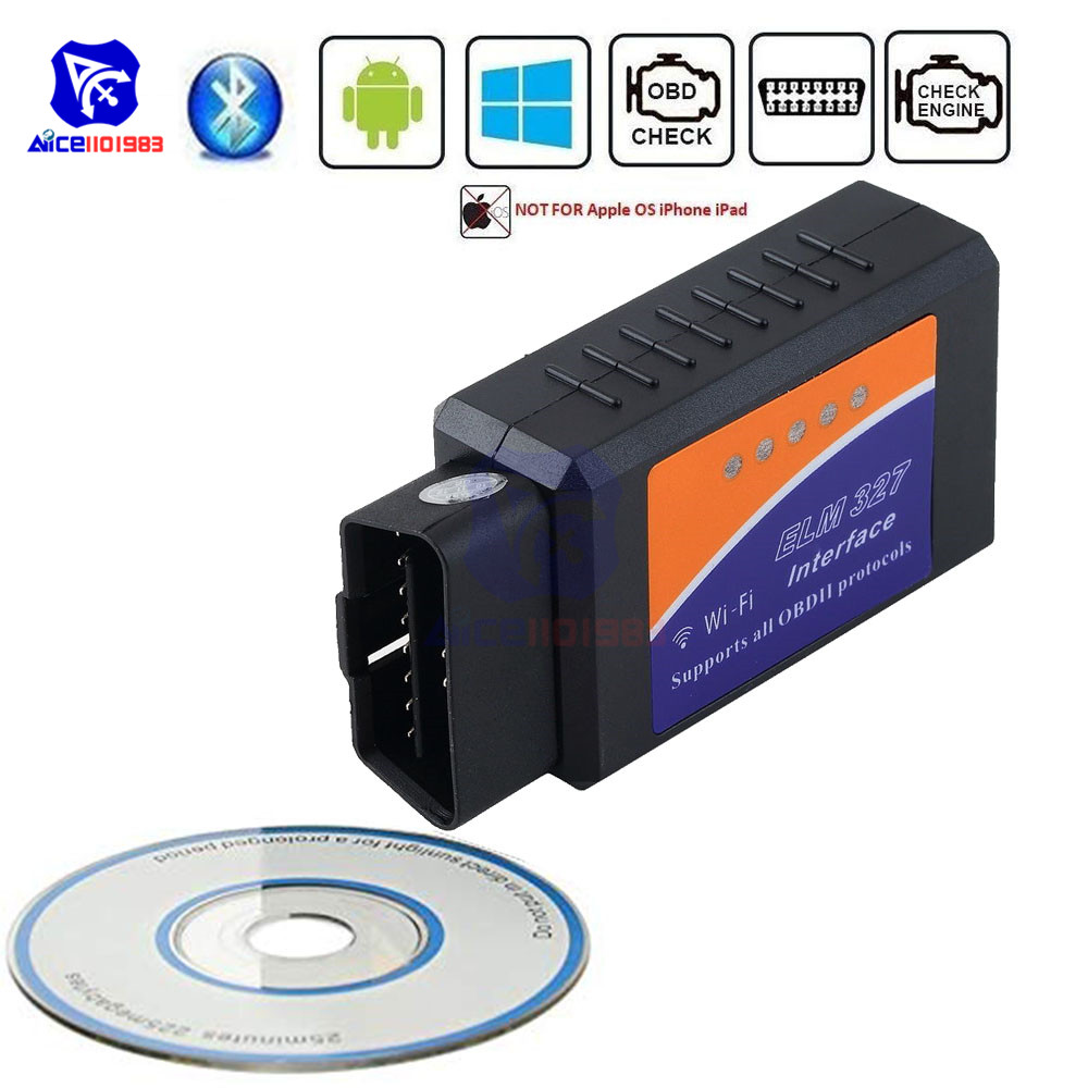 ELM327 V1.5 Car Bluetooth WIFI OBD2 Diagnostic Scanner OBDII Fault Code Reader Check Engine Light Scan Tool For Android Windows