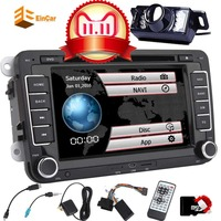 7 Inch Car Radio Stereo Touch Screen Double Din Head Unit Car Receiver Stereo in Dash GPS Navigation with Bluetooth CD DVD for