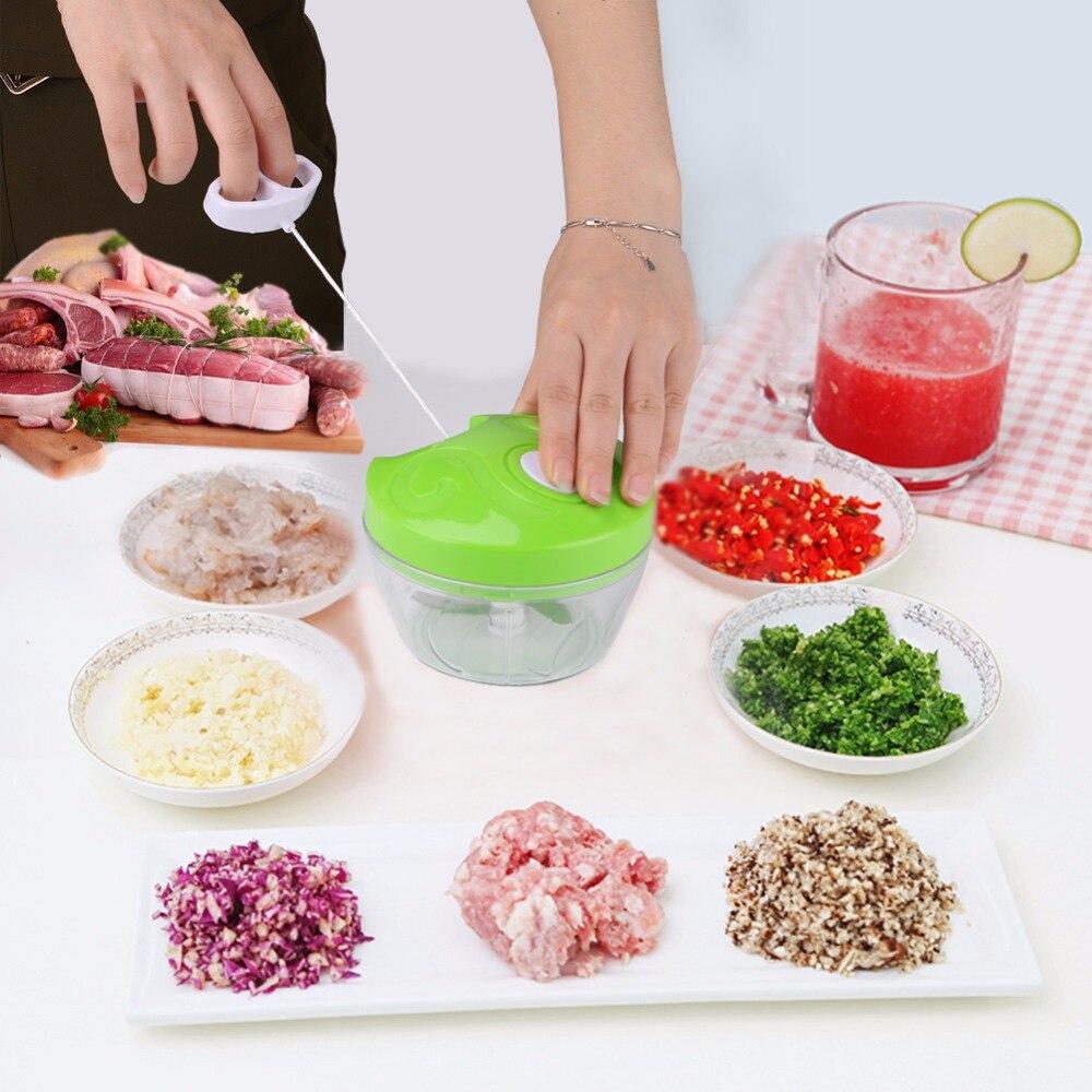 Household Manual Food Chopper Vegetable Cutter Chopper Shredder Garlic Press Meat Processor Machine Crusher Blender Kitchen Tool