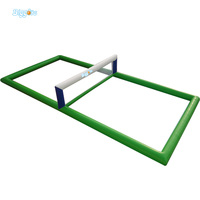 PVC Inflatable Football Course Volleyball Court Flooring Court With Net For Sport Game