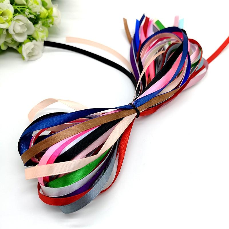 Мм 18 цветов Смешивание 18 ярдов 1/4 «6 мм шелковая атласная лента для свадебной вечеринки украшения пригласительная карта Подарочная упаковка Рождественская лента