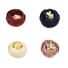 20pcs/lot 3*4cm Faux Fabric Ranunculus Flower DIY Handmade Ornament For Home Wedding Decoration Accessories MOMLOVEDIY