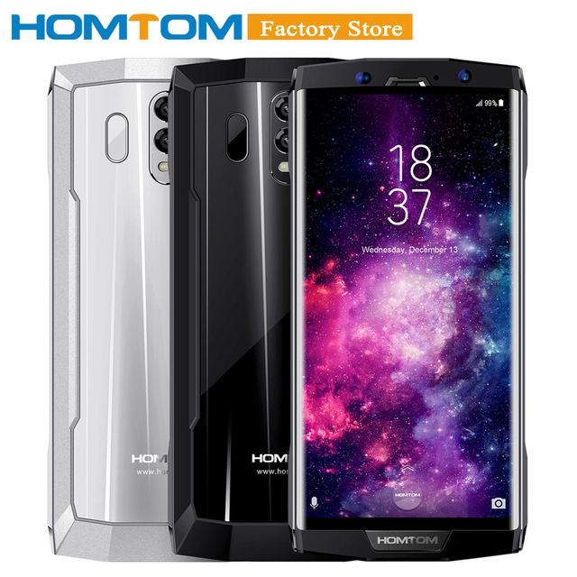 HOMTOM HT70 10000mAh 4GB 64GB Mobile Phone 6''18:9 HD+ Display Octa-core 13MP Front 16MP+5MP Dual Rear Cameras Fingerprint