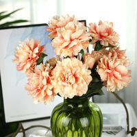 Real Touch Fake Peony Home Decor Silk Flower 1Pc Peony Home Artificial Flowers Home Party Decoration