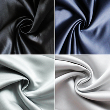 1YARD  Black gray Taiwan thick satin imports 395 wedding dresses dress, small light painted cloth.