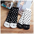 free shipping Cheap 2015 new cotton socks dot socks winking cat 18002095 Socks