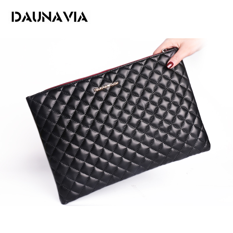 DAUNAVIA Fashion Women's Clutch Bag Leather Women Famous Brands Envelope Bag Clutch Evening Bag Female Bolsas Clutches Handbag