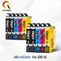 QSYRAINBOW 12 упаковок совместимых картриджей 220 T220 XL для Epson Expression XP-320 XP-420 XP-424 и рабочей силы WF-2630