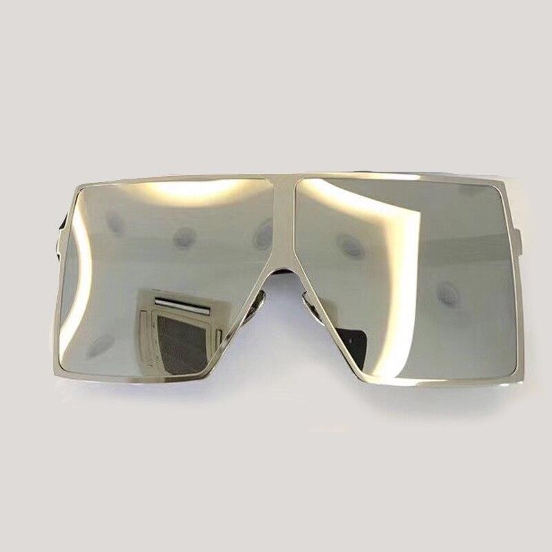 Steampunk carré lunettes De soleil femmes grand cadre avec dégradé UV400 lentille 2018 mode accessoires lunettes Oculos De Sol lunettes De soleil - 3
