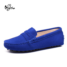 MYLRINA Shoes Women 100% Genuine Leather Flat Shoes Casual Loafers Slip On Women's Flats Shoes Moccasins Lady Driving Shoes
