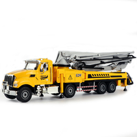 Simulation boy engineering vehicle toy concrete pump truck alloy car model children toy car simulation W104