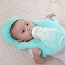 Babycare Newborn Baby Sleep Pillow  Head Protection Cushion Pillows with Bottle Holder Care Product for Feeding