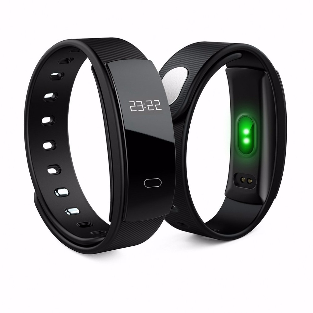QS80 Professional Silicone Waterproof Health Care Smart Bracelet Heart Rate Monitoring Pedometer Anti Lost Smart Bracelet