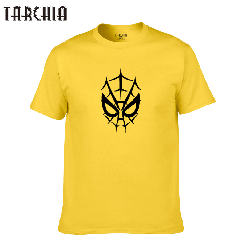 TARCHIA 2019 new fashion funny Spiderman face t-shirt cotton tops tee men brand short sleeve boy casua fashion homme tshirt plus
