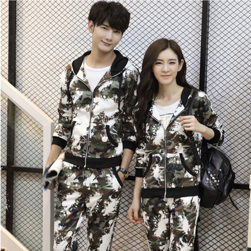 ФОТО 2016 lovers Fishing Jackets sweater integrated training sets men's hooded cardigan camouflage clothing Korean version Fishing ve