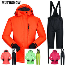 Snowboarding Suits Women Winter Windproof Waterproof Female Ski Jacket And Snow Pants Sets Super Warm Brands Women Ski Suit winter ski suit women brands 2018 ski jacket and pants snow warm waterproof windproof skiing and snowboarding suits