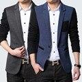 2016 roupa dos homens de cultivar a moralidade homens Lazer blazer Moda costura