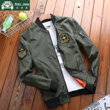 New 2019 Spring Autumn Military Jacket Men Brand Air Force Jackets Emb