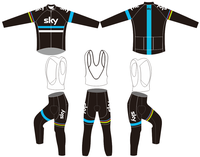 2018 Team sky Breathable Cycling long Sleeves jersey bib pants sets Autumn Bicycle Clothing Bike ClothesQuick dry Ropa bicicleta